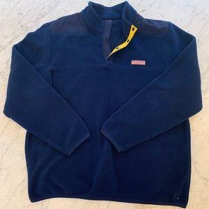 Vineyard Vines Fleece 1/4 Zip Pullover Navy XXL